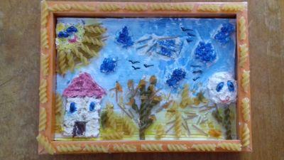 """Пейзаж"" на Кристина от 5 клас - 9 ОУ Пейо Крачолов Яворов - Благоевград"